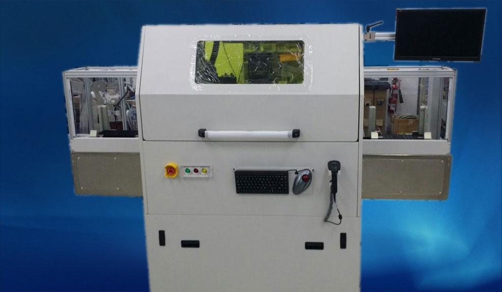 Fully auto laser marking machine