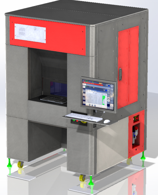 Standalone Marking Machine With 2 Position Rotary Table
